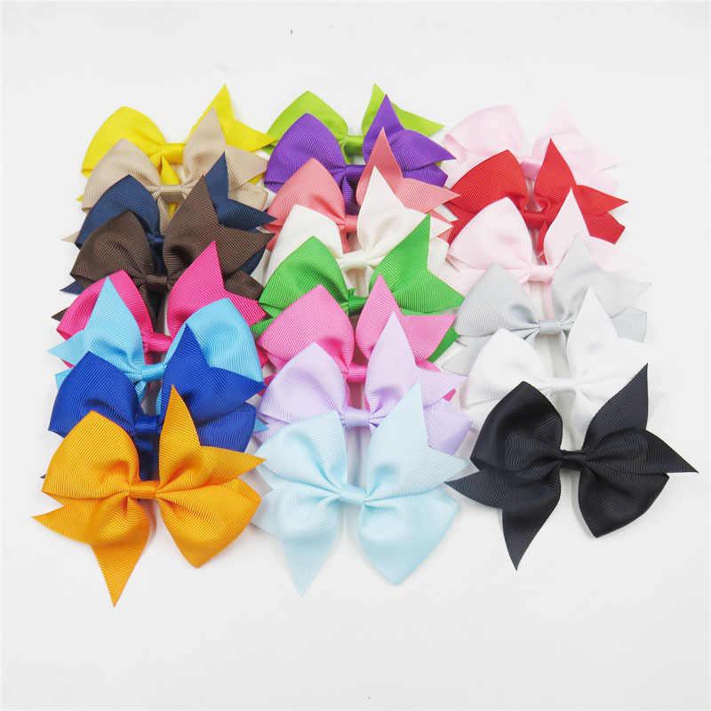 1 Uds. Bandas elásticas de colores lisos para el cabello listón para chicas lazos para el cabello accesorios para el cabello, cuerda cola de golondrina mejor regalo de vacaciones