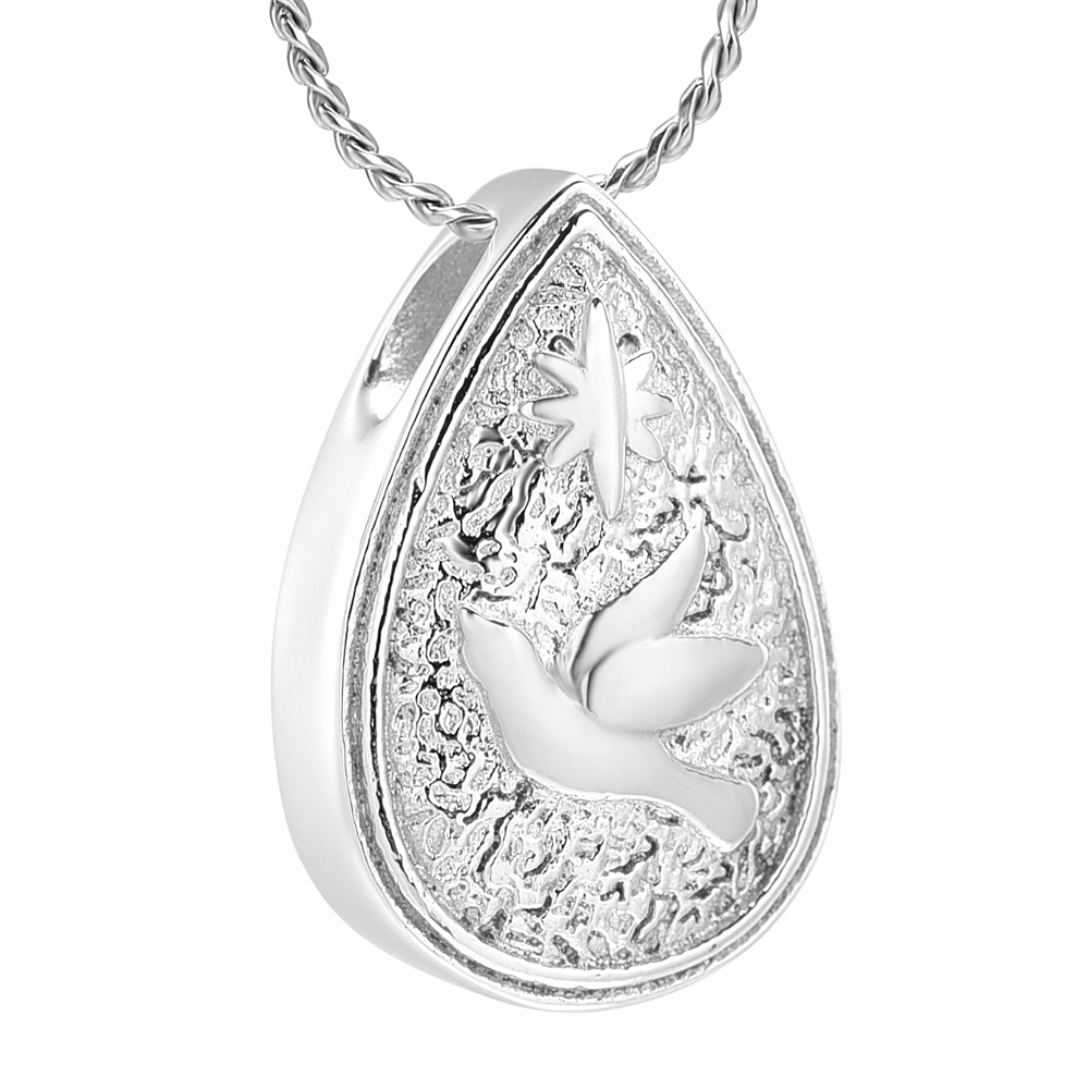Memorial Keepsake Waterdrop Pendant For Cremation Jewelry Urn Necklace