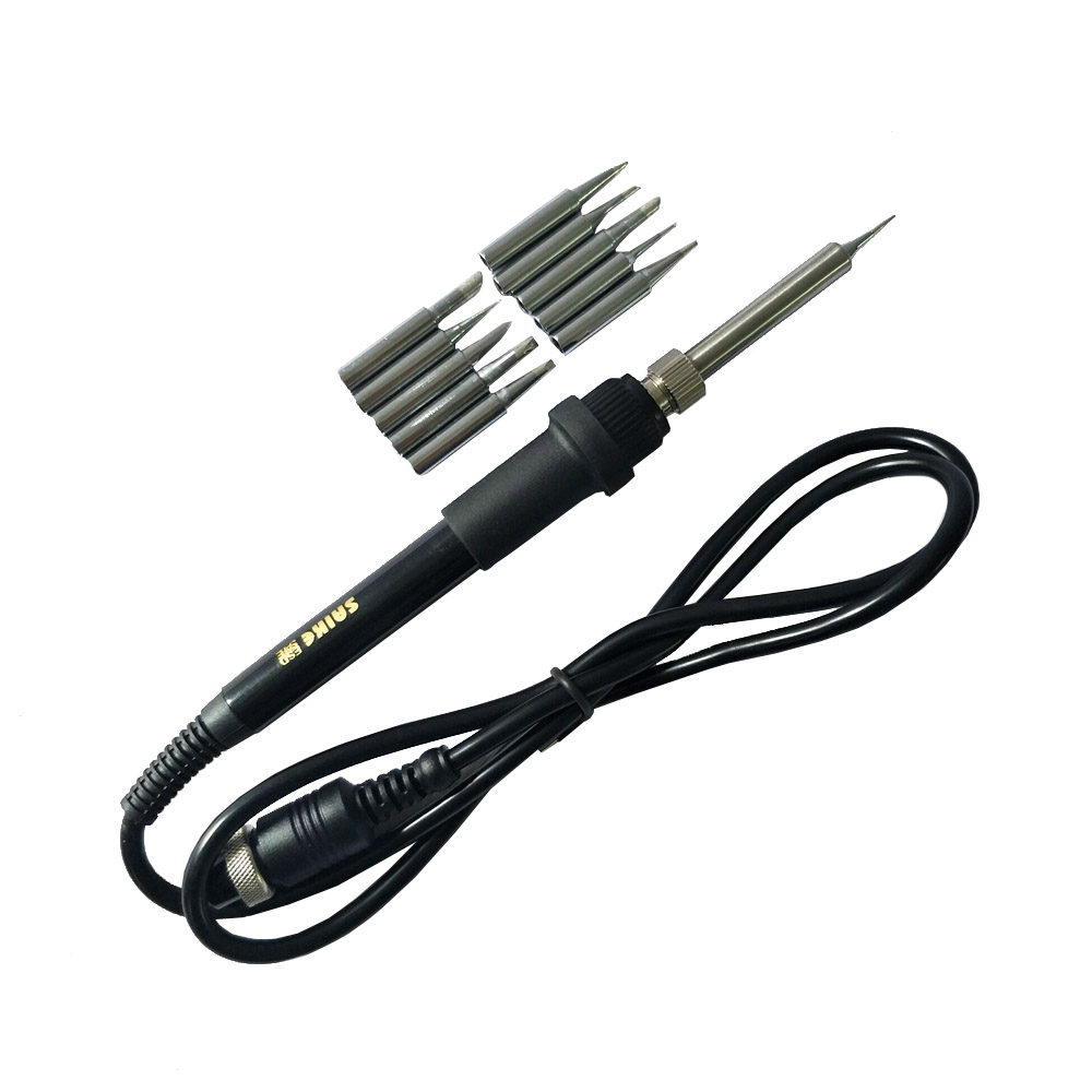 Saike 907 Replace Electric Soldering Iron Handle + 10pcs Welding Head For Saike 852D 909D 936 937 8858 Rework Station