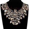 2014 Mujeres Nuevo Año Vestido de Noche Perfecto Partido Accesorios de Joyería de Moda Brillante de Cristal Gargantillas Collares Collar Llamativo