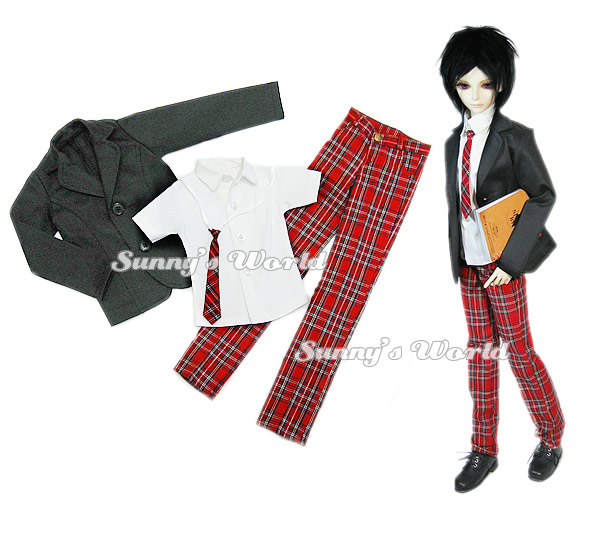 1/3 1/4 scale BJD accessories coat+shirt+pants set doll clothes for BJD/SD.Not included doll,shoes,wig and other 16C0863 fashion gray coat for bjd 1 4 msd 1 3 sd17 uncle doll clothes accessories