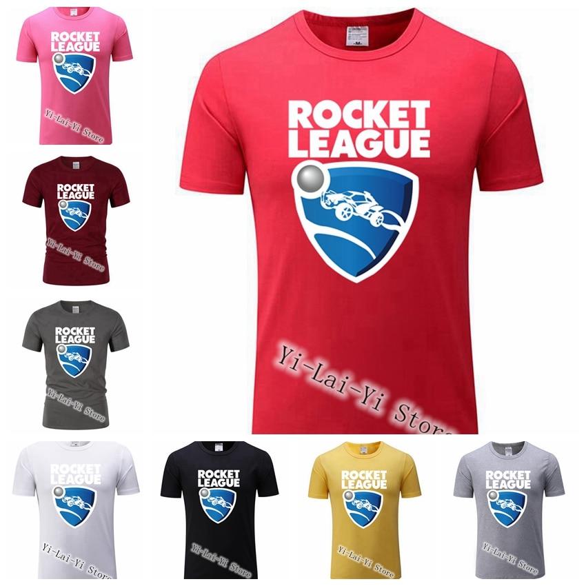Free Shipping! Game Man Tshirts Geek Men's Rocket League Organic Cotton   T  -  Shirt   Round Collar Games   T     Shirt   Men Tshirt XS-XXXL
