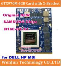 NIEUWE GTX 970M GTX970M N16E GT A1 6GB Video Grafische Kaart Voor DELL HP 8770W Clevo P375SM P170EM P150EM p157SM P151SM P150SM P177SM