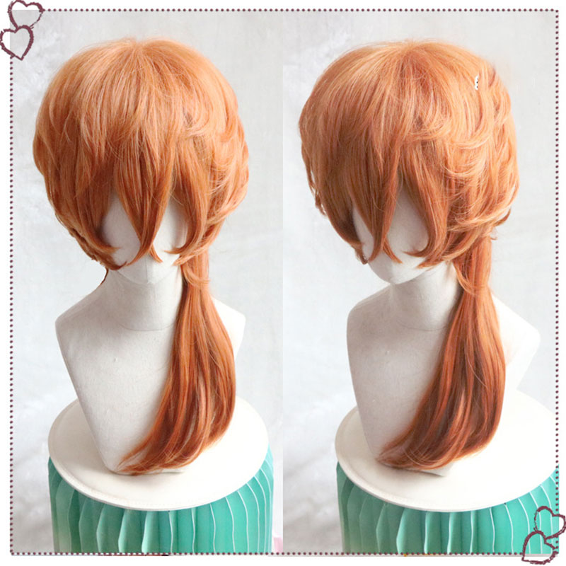 2019 Fashion Anime Bungo Stray Dogs Chuya Nakahara Chuuya Wigs Heat Resistant Synthetic Hair Halloween Party Cosplay Costume Wig