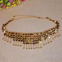 Cheap Beaded  Waist Golden Silver Gypsy Tribal Belt Belly Dance Metal Hip Scarf Belly Dance Coins Belt With Jingle