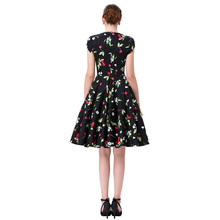 Audrey Hepburn Robe Retro Rockabilly Dress 2016 jurken 60s Swing Floral Print Pin up Vestidos Women Summer 50s Vintage Dresses
