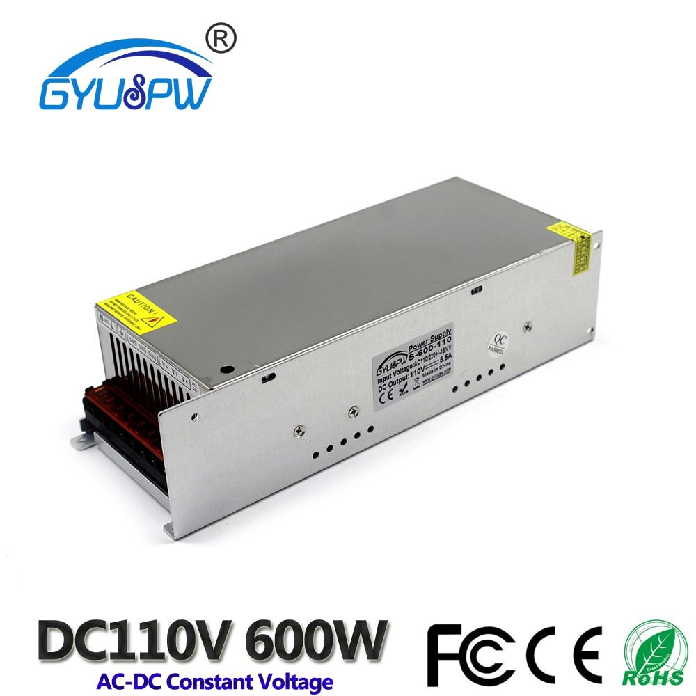 Выключатель питания 110 В 5.5A 600 Вт трансформаторы 220 В переменного тока в DC110V трансформатор напряжения для шагового двигателя CNC маршрутизато...