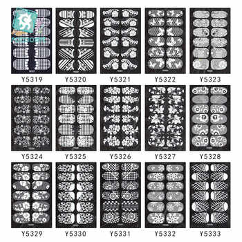 200pcs/lot YSeries Wholesale NAIL WRAPS STICKERS Full Self Adhesive Nail Foils Decoration Art Decals