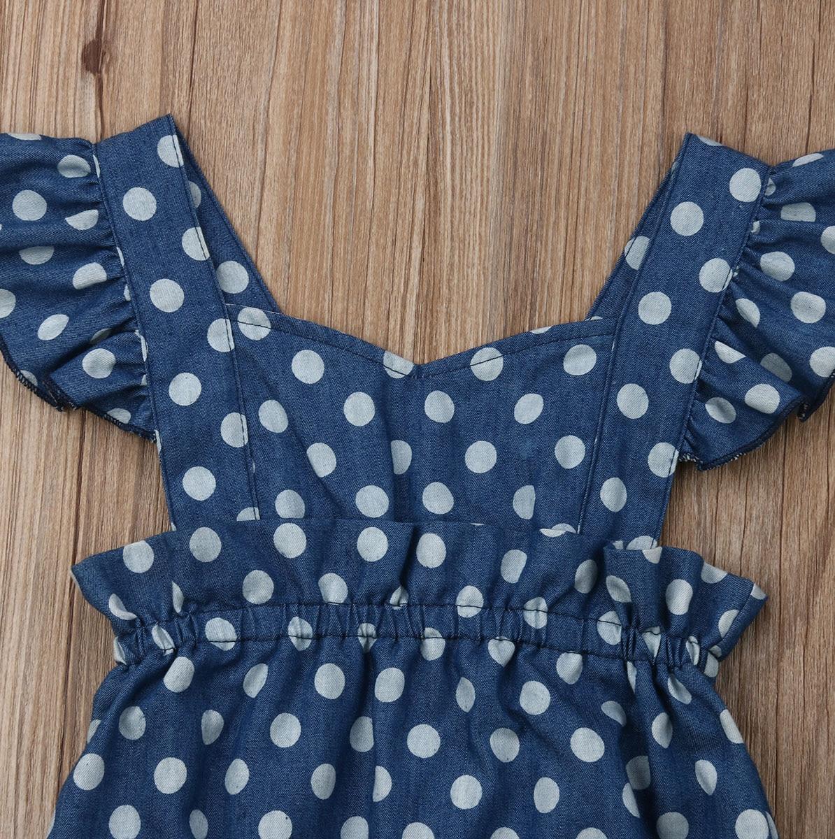 squarex Baby Cactus Floral Print Vest Sleeveless Backless Romper Jumpsuit