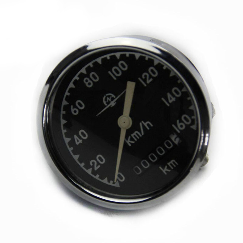 Ural CJ K750 M72 retro round speedometer original style 0 160 km install at headlight case