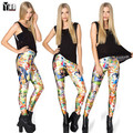 Hot sale 2015 womens' leggings cartoons Mermaid print princess fashion high elastic slimming pants personality female trousers