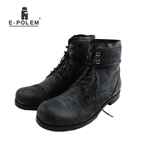 Men Fashion High Top Military Desert Boots Male Cow Leather Shoe Ankle Men S Casual Shoes