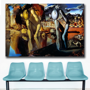 The Metamorphosis of Narciso oil Painting by Salvador Dali Printed on Canvas 2