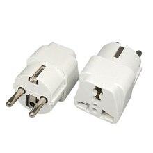 цена на Universal Travel to EU Euro Plug AC Power Charger Adapter Converter Socket  Power Plug Adaptor Connector for phone and pad
