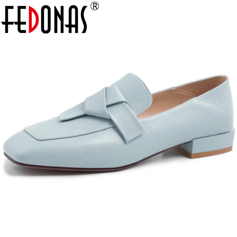 FEDONAS New Women Genuine Leather Pumps Slip On Soft Leather Square Toe Thick High Heels Pumps Elegant Casual Shoes Woman FEDONAS New Women Genuine Leather Pumps Slip On Soft Leather Square Toe Thick High Heels Pumps Elegant Casual Shoes Woman