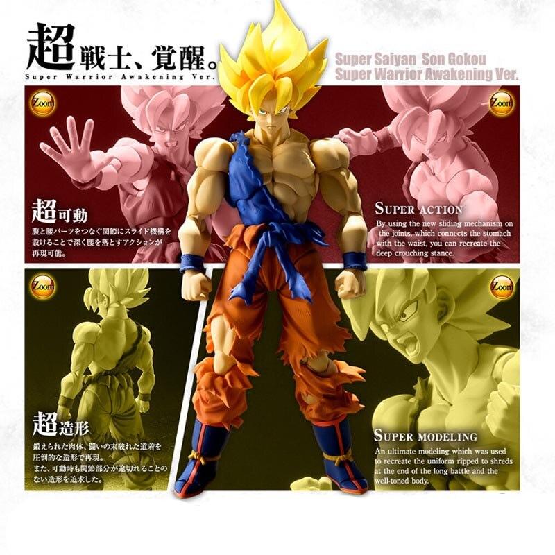 Dragon Ball Risvegliato Super Saiyan Son Goku Pvc Attività Action Figure Giocattolo Modello Dragon Ball Display Giocattolo Del Fumetto Regalo Di Compleanno