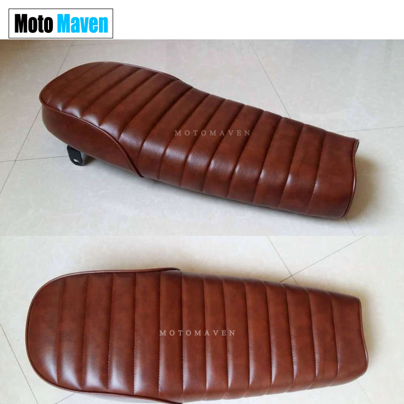 2016 BRAND NEW  Flower Brown  MASH CAFE RACER  BRAT SEAT COVERS SET WITH BOTTOM BRAKET VINTAGE UNIVERSAL SIMA  MOTOCYCLE CUSHION