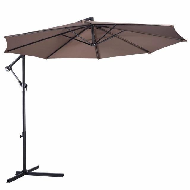Giantex 10' Hanging Patio Umbrella  5
