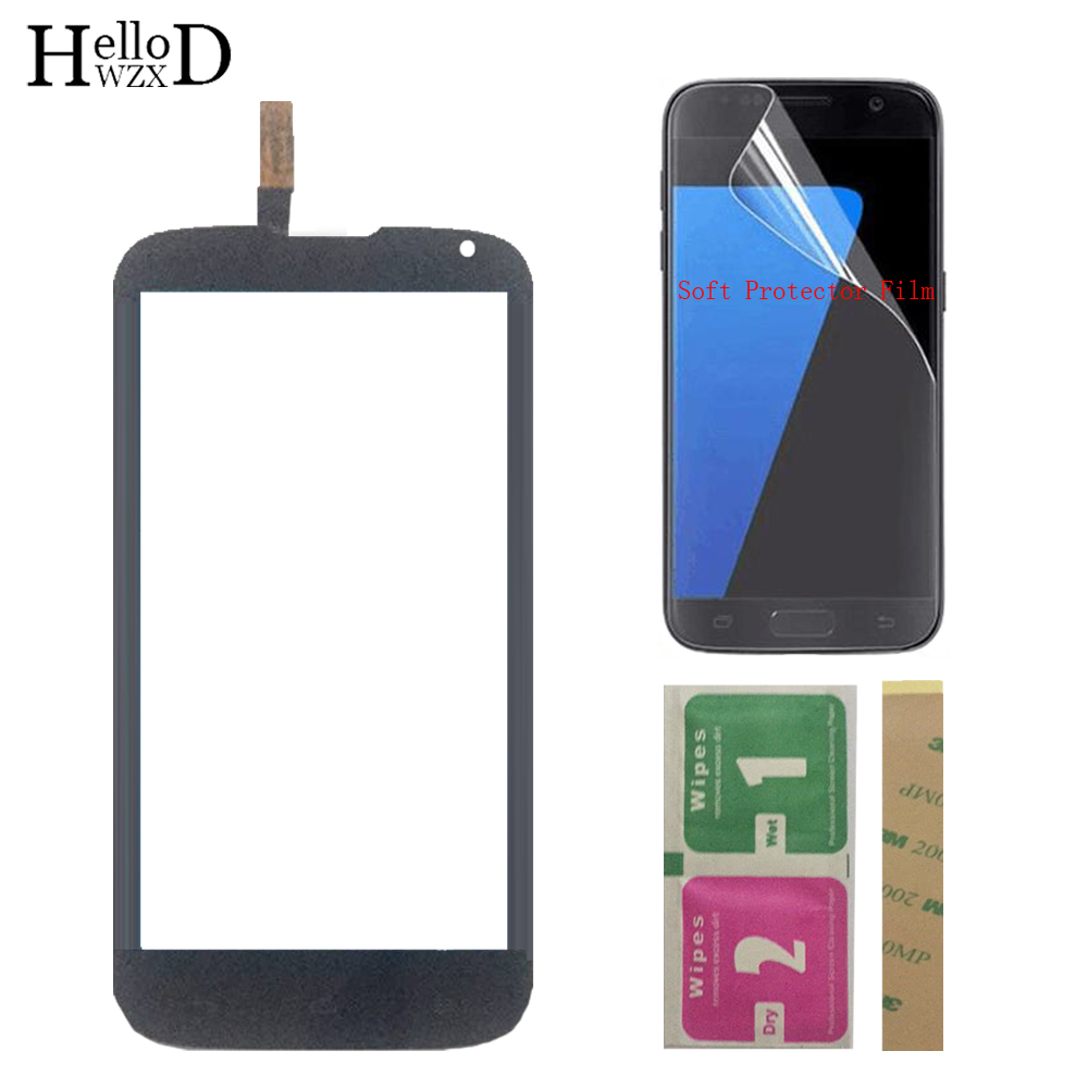 Mobile Touch Screen TouchScreen For Huawei Ascend G610 C8815 G610-U20 Touch Front Glass Digitizer Panel Sensor + Protector Film