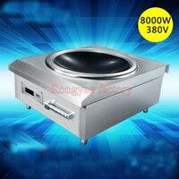 8kw нержавеющей стали высокой мощности вогнутой коммерческие индукционная плита электромагнитная плита промышленных Электрический жарки п
