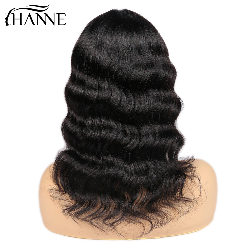 HANNE Hair Lace Front Middle Part Human Hair Wigs Loose Deep Wave Short Hair Wig Brazilian Glueless Wigs For Women