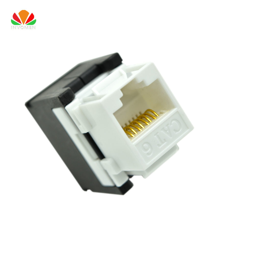 Utp Rj45 Connector Cat6 Module Information Socket Computer Outlet Wiring Diagram On Hi Power Lightning Protector Jacks 3 Style 180 Tool Free