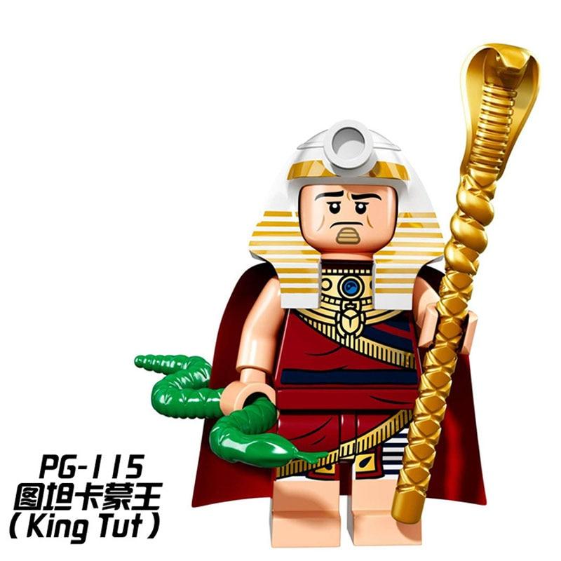 PG115 King Tut Egypt Batman Limited Edition 71017 Super Hero BuildingBlocks Children Gift Toys PG8033 patterson james the murder of king tut