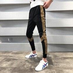 2019 estate Piccoli Uomini E Donne Pantaloni Pantaloni Pantaloni Casual da Uomo di Strada Moda Maschile Slim Fit Sweatpant Pantaloni Corda