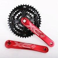 Bike Crank mtb mountain bike 24 34 42T Bicycle Crankset 170mm aluminum alloy crank square hole 7 8 9 Speed Chainwheel