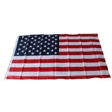 Горячие 90x150 см Американский флаг полиэстер флаг для наружного и внутреннего размещения домашнее украшение флаги США A89