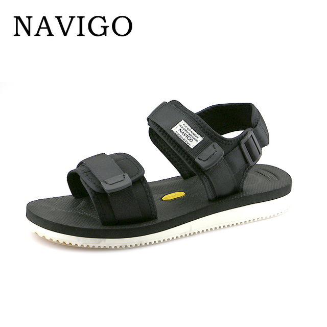 8fcb6f649fb9 Navigo Summer Men Sandals Shoes 2018 Fashion Black Sandals Men White Botton  Breathable Men Casual Shoes Sandals Size 10