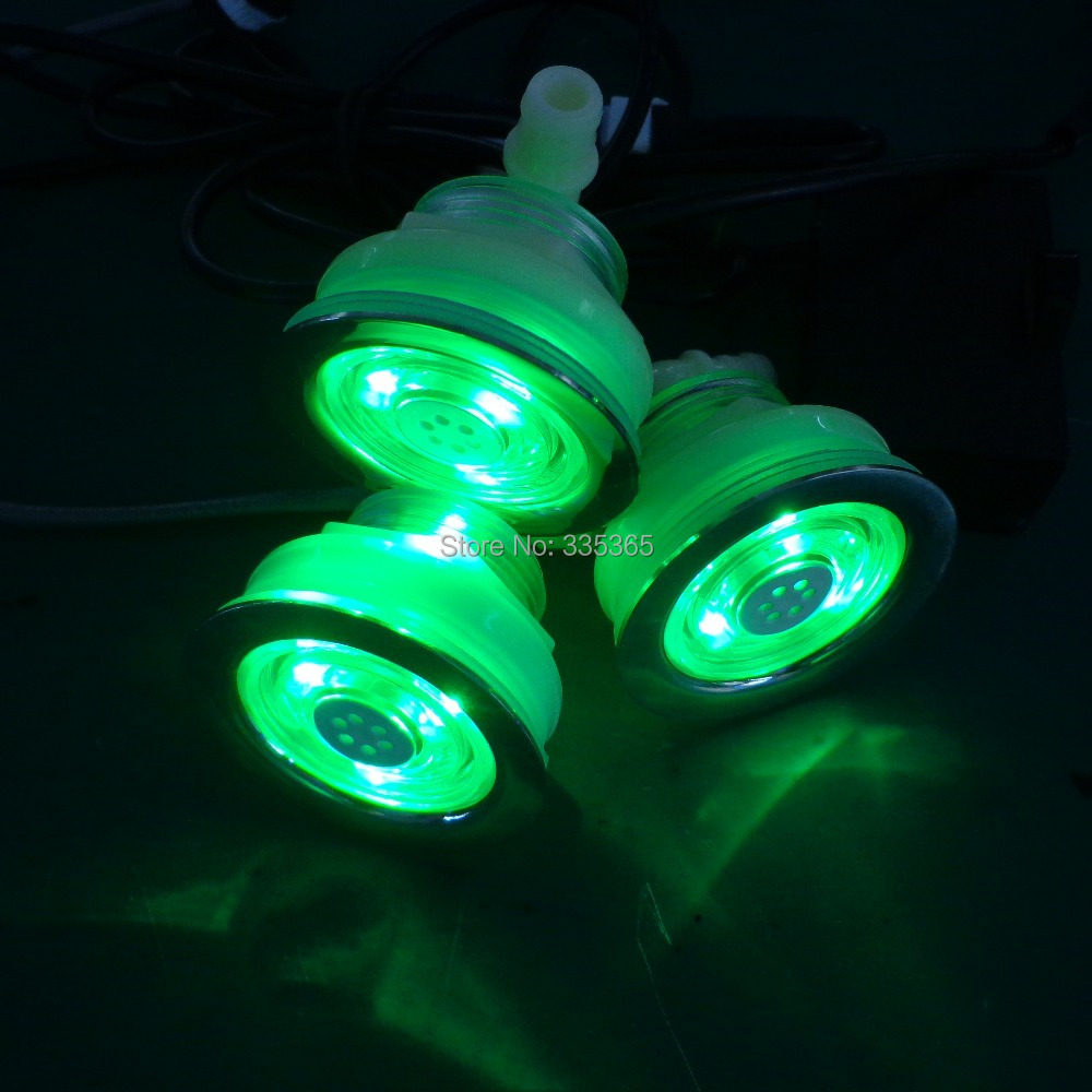 10pcs recessed waterproof RGB LED underwater Lamp hot tub pneumatic jet LED light with 1manual light