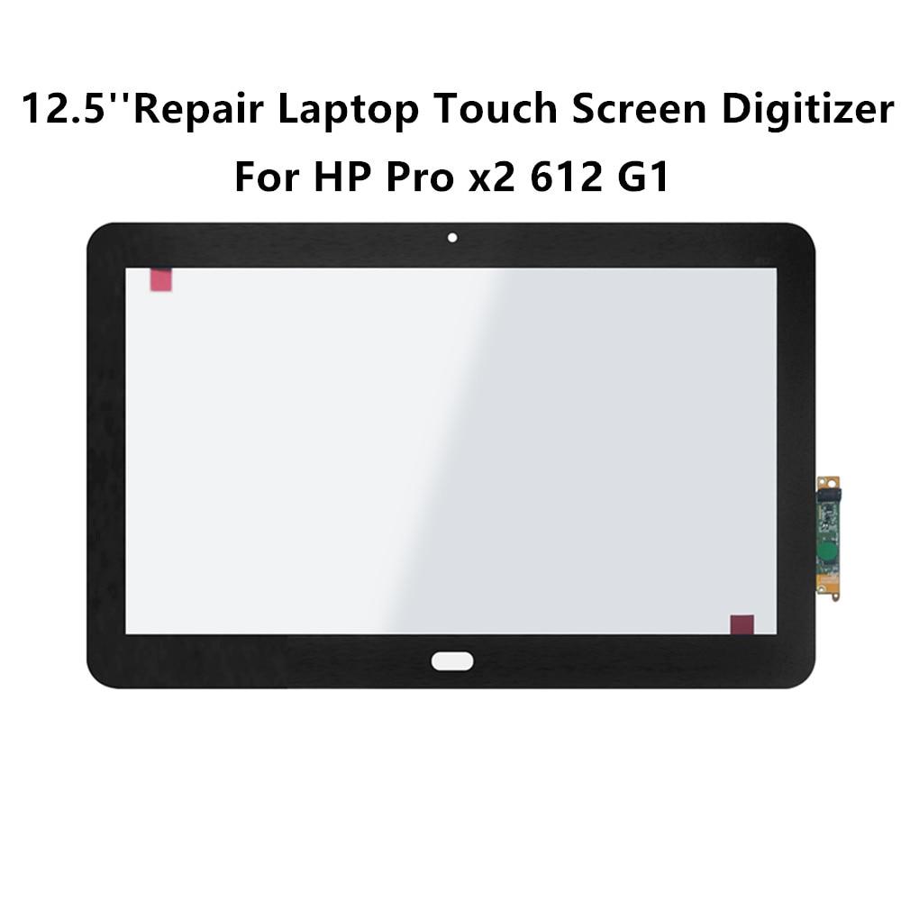FTDLCD 12.5 ''réparation ordinateur portable à écran tactile numériseur verre avant tablette pour HP Pro x2 612 G1