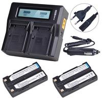 2Pc 7.4V 54344 Battery + Rapid Dual Charger for Trimble 5700 5800 29518 46607 52030 MT1000 R7 R8 GPS Receiver Ei D Li1 Batteries
