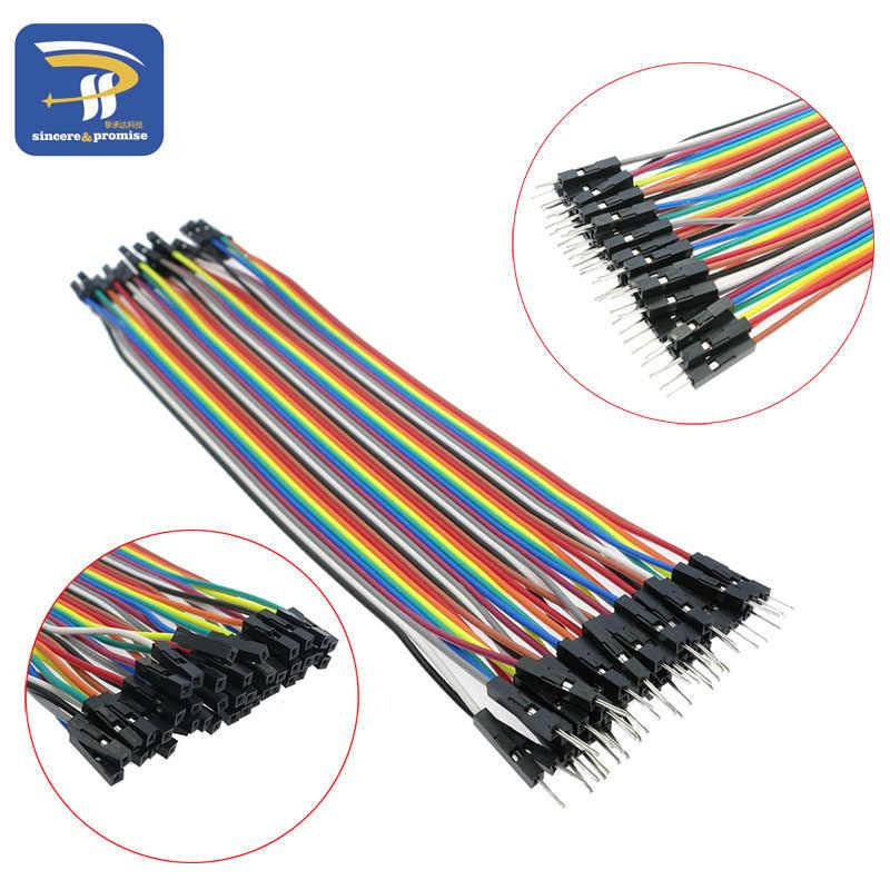 Dupont ligne 120 pièces 20cm 1 P-1 P mâle à mâle + mâle à femelle et femelle à femelle câble de raccordement Dupont câble pour Arduino kit de bricolage