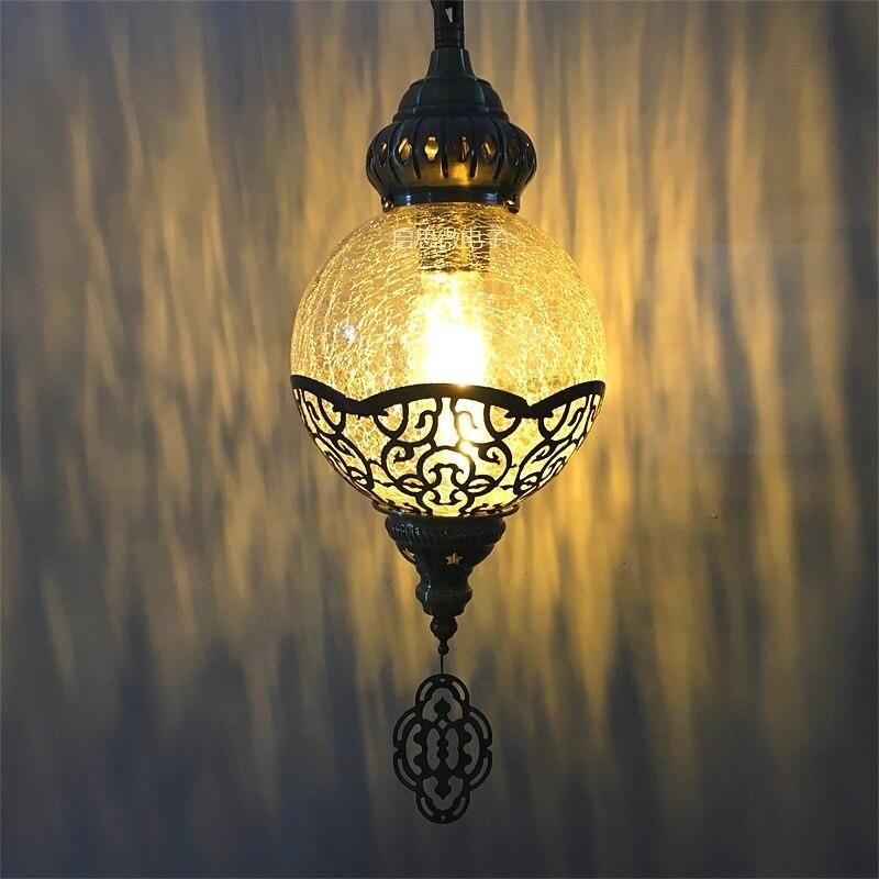 Newest style Turkey ethnic customs handmade lamp romantic cafe restaurant bar tree Pendant light ice cracked