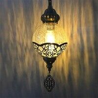 Nieuwste stijl Turkije etnische douane handgemaakte lamp romantische cafe restaurant bar boom hanglamp ice gebarsten glas hanglamp