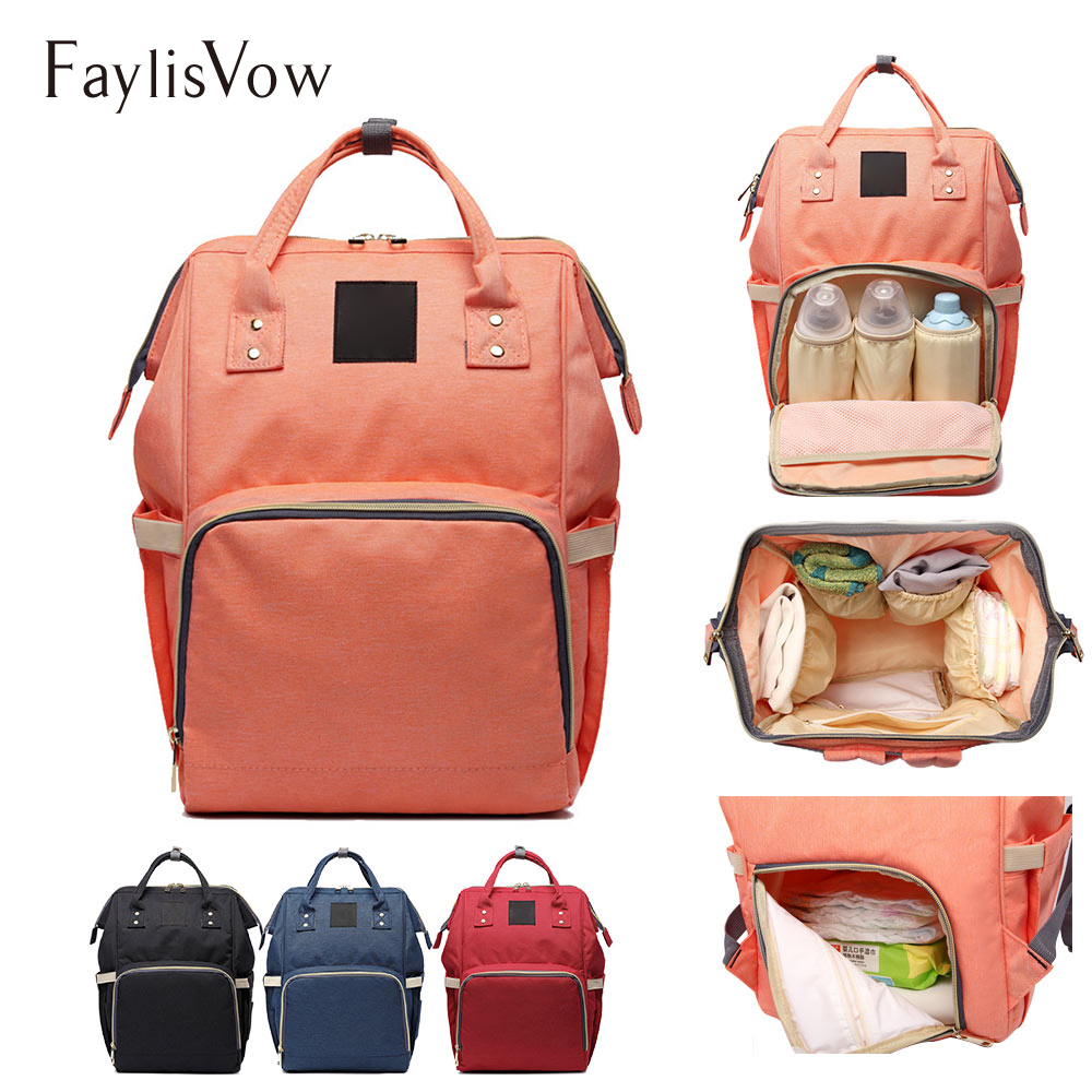 Large Capacity Mummy Baby Bag Women's Travel Backpack Carry Care Stroller Carriage Waterproof