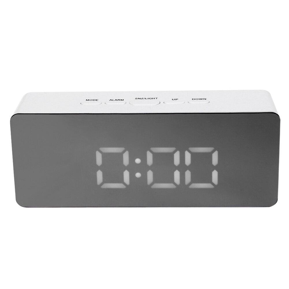 Multifunction LED Mirror Clock Digital Alarm Clock with Temperature Snooze LED Display Desktop Table Clock