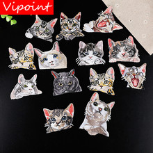 VIPOINT embroidery cats patches animal badges applique for clothing YX-8