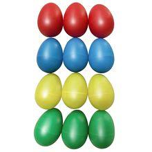 Новые 12 шт Пластиковые яичные шейкеры набор с 4 различных цветов, ударное музыкальное яйцо Маракас детские игрушки