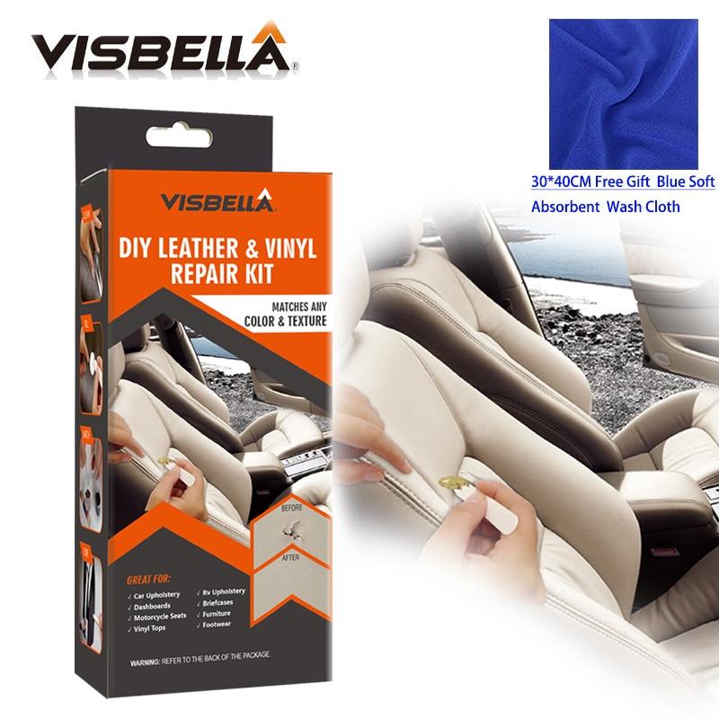Leren Bank Scheur Repareren.Visbella Professionele Diy Lederen Vinyl Reparatie Kit Jassen