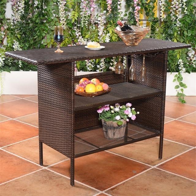 Outdoor Patio Rattan Bar Table 2