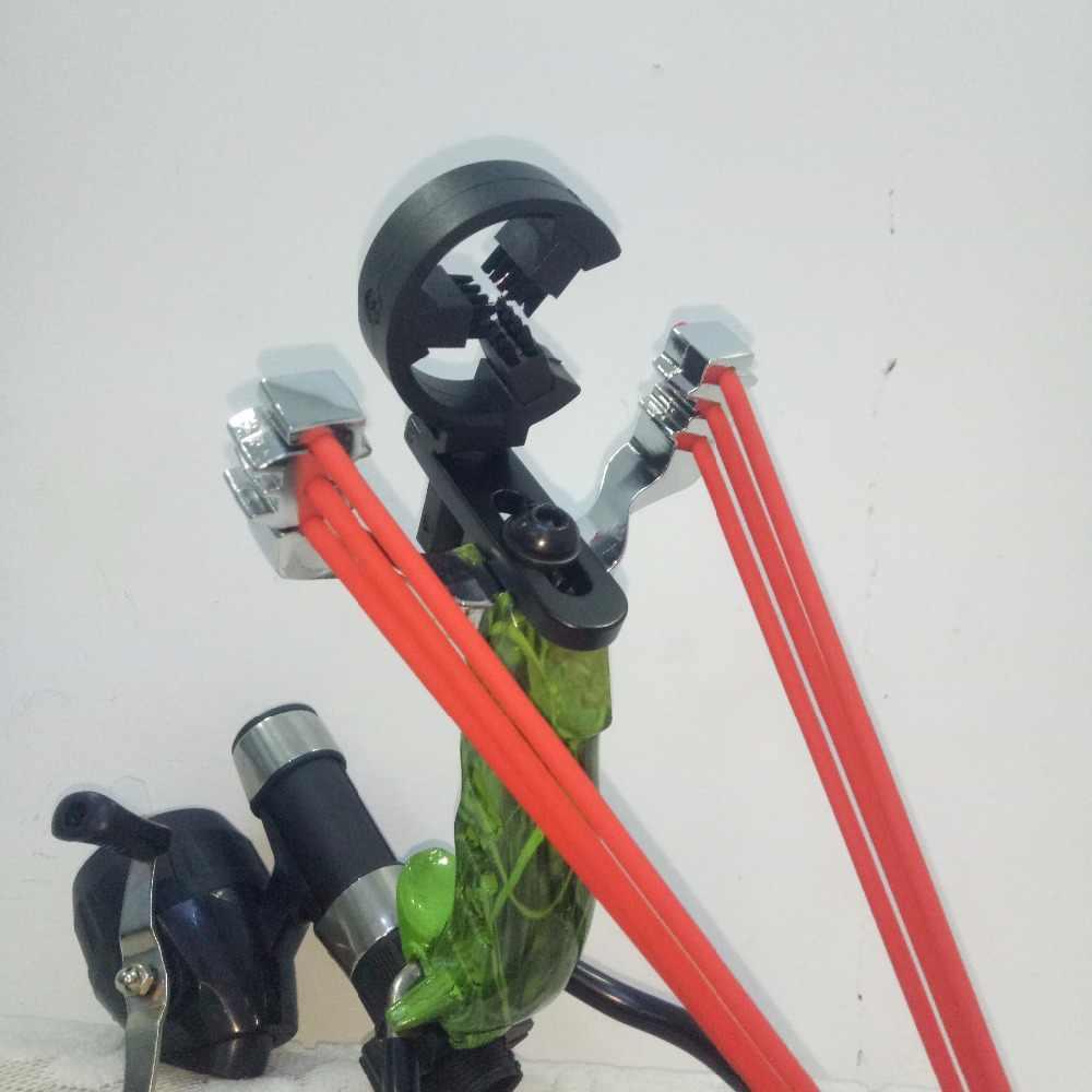 Offerte Hot Caccia Mini Balestra Slingshot Outdoor In Acciaio Potente Professionale Catapulta Sling Shot Tiro Con L'arco