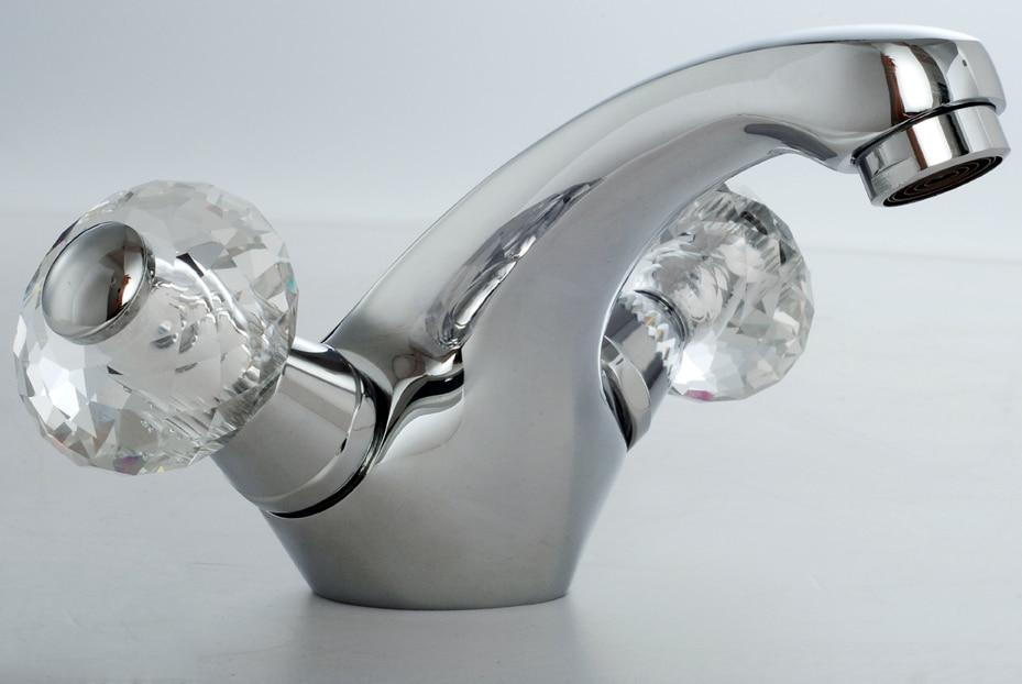୧ʕ ʔ୨Envío Gratis cromado dos cristal maneja solo agujero grifo