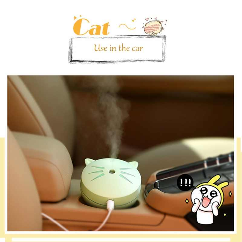 Colorful led Night Light Cute Cat humidifier heavy fog Humidifier for household LED Night Lamps