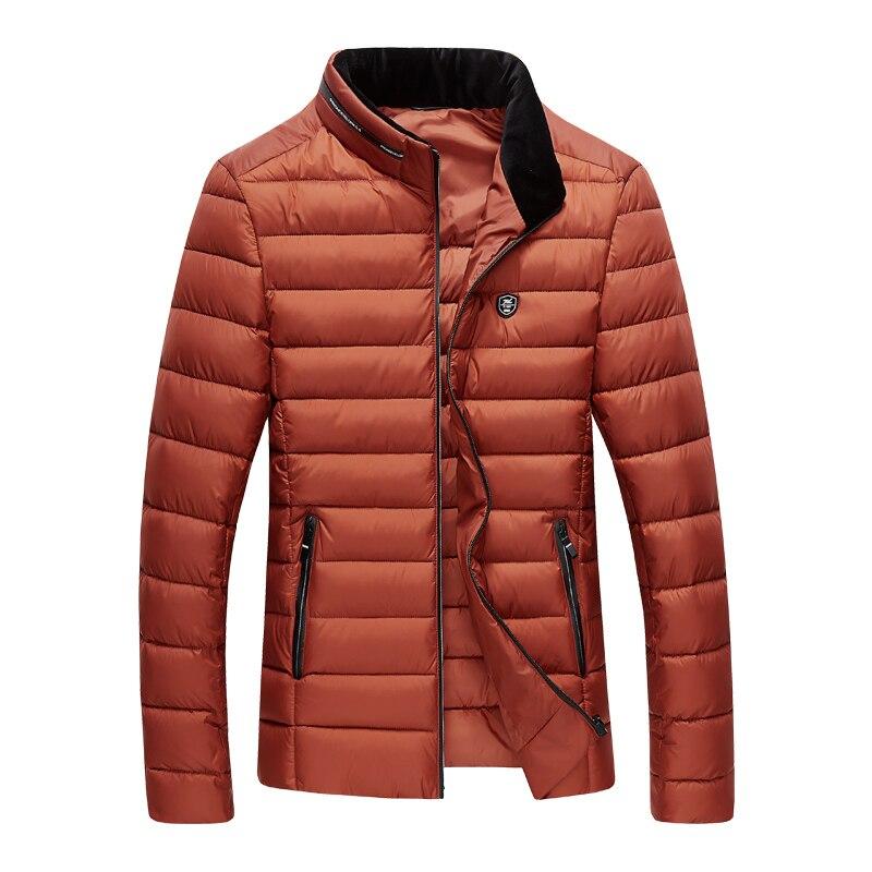Caliente hombre primavera y otoño informal de manga larga protección fría abrigo de algodón caliente para los hombres