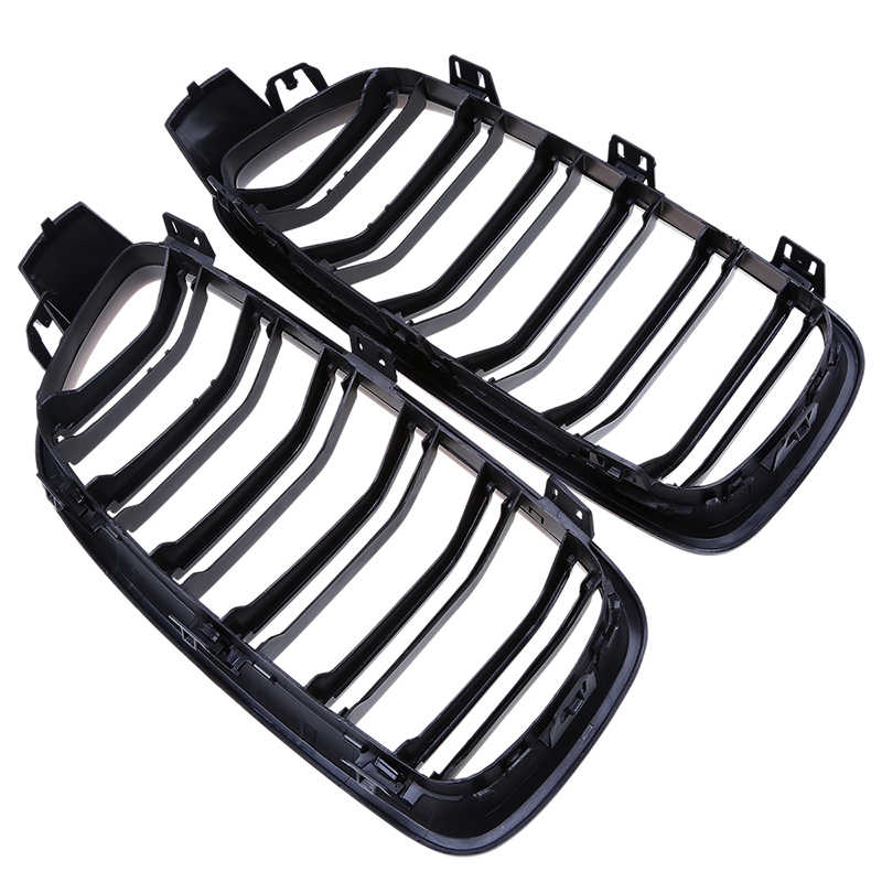 POSSBAY-25% de alta calidad negro mate frente riñón deporte rejillas de parrillas para BMW Serie 3 F31 gira 2012-2017 estilo de coche