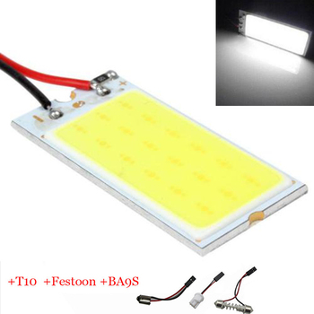 Big Promotion T10 COB 36 SMD LED Light Panel Car Auto Interior Reading Map Parking Bulb Lamp BA9S Festoon Dome 3 Adapters DC12V