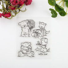 2016 new Scrapbook DIY Photo Album Account Transparent Silicone Rubber Clear Stamps cartoon